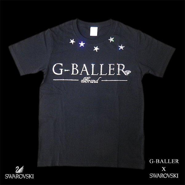 画像1: G-BALLER スワロTシャツ スター ジーボーラー オリジナル スワロフスキー シャツ