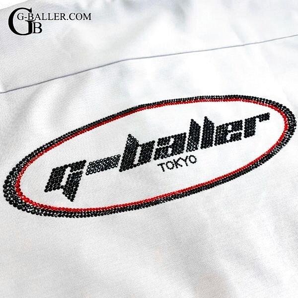 ジーボーラーロゴ バックデザインワーク半袖シャツ
