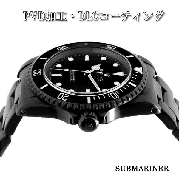 画像2: ROLEX SUBMARINER BLACK PVD/DLC.ロレックス サブマリーナ ブラックPVD加工/DLCコーティング