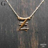 イニシャルペンダント【Z】 K18/K10