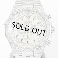 Breitling Bentley GMT A47362 Diamond Stainless Strap Included