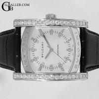 ブルガリ アショーマ 白シェル ダイヤベゼル 40Pダイヤモンド