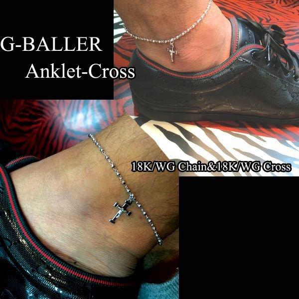画像4: クロス 18K アンクレットトップ G-BALLER