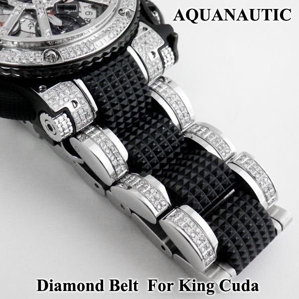画像2: アクアノウティック  ダイヤベルト ダイヤモンド ウォッチバンド