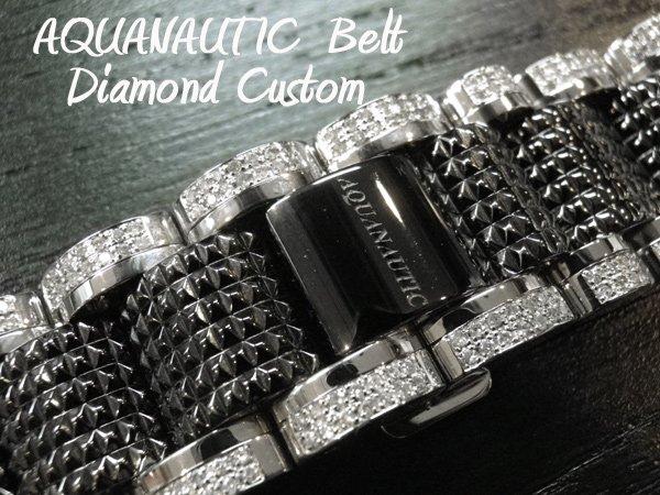 画像1: アクアノウティック ベルト交換 ダイヤ チタンベルト コマ アフターダイヤ