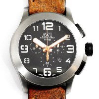 AWI International Titanium 48 Chronograph AW1348CH TI48 Brown Leather