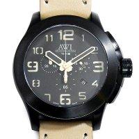 AWI International Titanium 48 Chronograph PVD AW1348CH TI48 Beige Leather