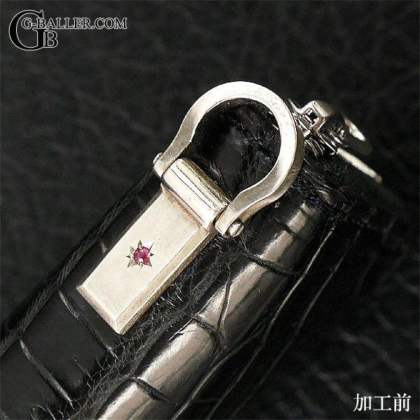 クロコダイル財布 ダイヤモンドカスタム