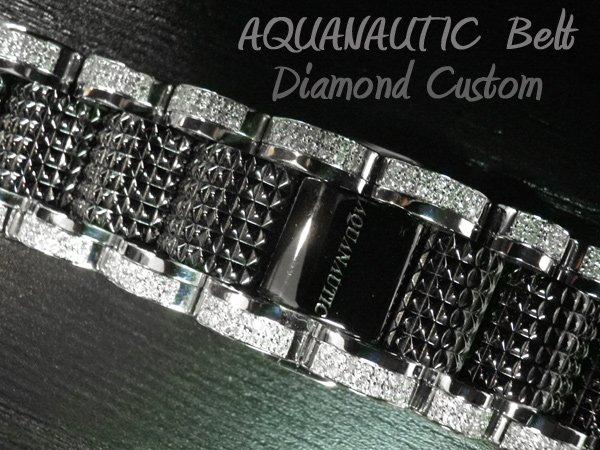画像3: アクアノウティック ベルト交換 ダイヤ チタンベルト コマ アフターダイヤ