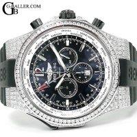 ブライトリング 時計アフターダイヤ ベントレー GMT A476B19GRC フルダイヤモンド
