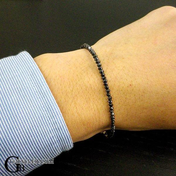 画像2: 天然 ブラック ダイヤモンド ブレスレット 11.35ct K18YG メンズ レディース