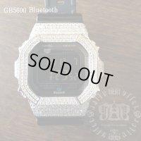 GB5600aa Black レア カスタム 本体セット!! WHITE DIAMOND Gショックカスタム GB BLUETOOTH カスタム 世界初のブルートゥース G-SHOCKカスタム!