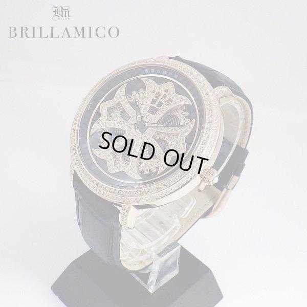 画像2: 【即納】 BRILLAMICO/ブリラミコ スワロ時計 ゴールドxブラック