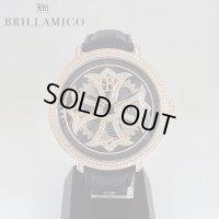 【即納】 BRILLAMICO/ブリラミコ スワロ時計 ゴールドxブラック