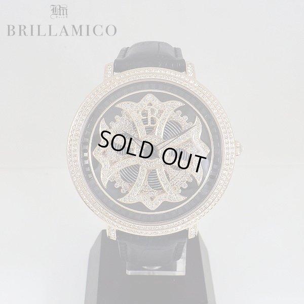 画像1: 【即納】 BRILLAMICO/ブリラミコ スワロ時計 ゴールドxブラック
