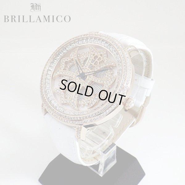 画像2: 【即納】BRILLAMICO/ブリラミコ スワロ時計 ゴールドxホワイト