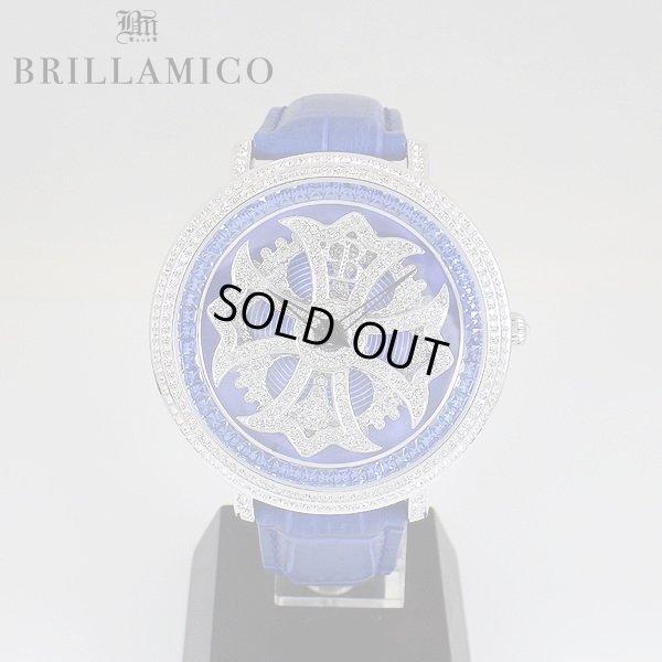 画像1: 【即納】BRILLAMICO/ブリラミコ スワロ時計 シルバー x ブルー