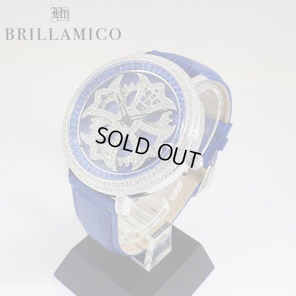 画像2: 【即納】BRILLAMICO/ブリラミコ スワロ時計 シルバー x ブルー