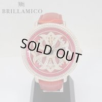 【即納】BRILLAMICO/ブリラミコ スワロ時計 ゴールド x レッド