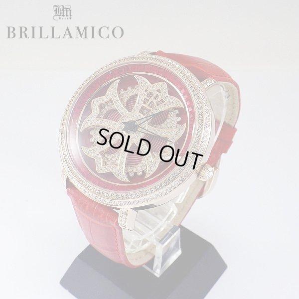 画像2: 【即納】BRILLAMICO/ブリラミコ スワロ時計 ゴールド x レッド