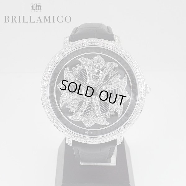 画像1: 【即納】BRILLAMICO/ブリラミコ スワロ時計 シルバーxブラック