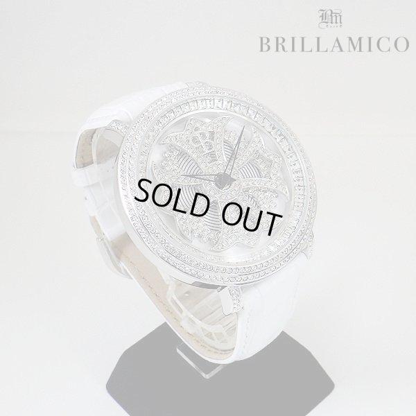 画像2: 【即納】BRILLAMICO/ブリラミコ スワロ時計 シルバーxホワイト