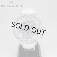 【即納】BRILLAMICO/ブリラミコ スワロ時計 シルバーxホワイト