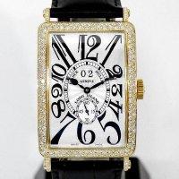 Franck Muller Long Island 1200 S6 GG 18k Big Date Classic Pave Diamond