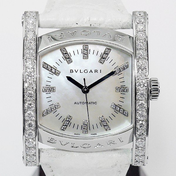 画像1: Bvlgari Assioma AA44s Mother of Pearl 40P Diamond Dial 35mm unisex