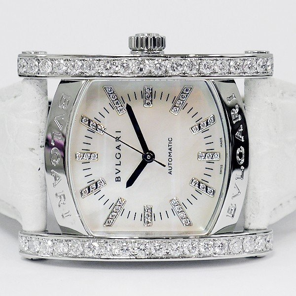画像2: Bvlgari Assioma AA44s Mother of Pearl 40P Diamond Dial 35mm unisex