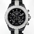 画像1: Chanel J12 Chronograph 41mm Diamond 9P/DIA Dial Black Ceramic AT (1)