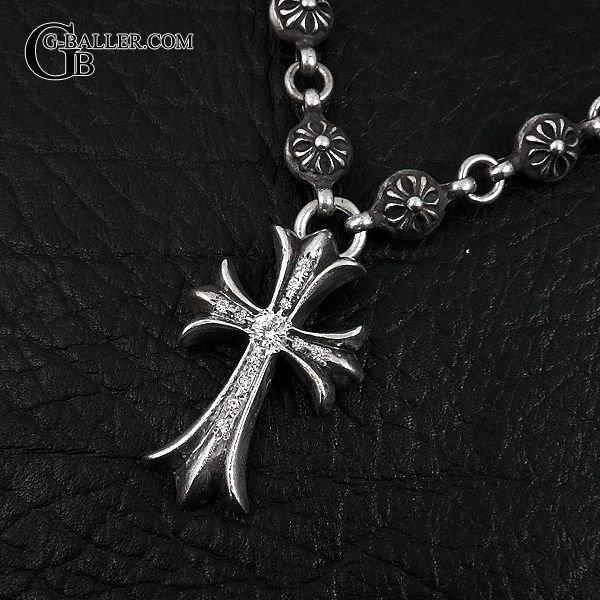 画像2: クロムハーツ クロスボールネックレス CHクロス ダイヤ