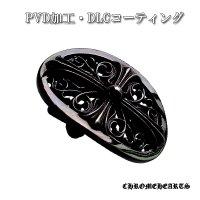 クロムハーツ・ブラックPVD クラシックオーバル ベルトバックル