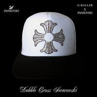 スワロフスキー プラス キャップ ホワイト×ブラック G-BALLER