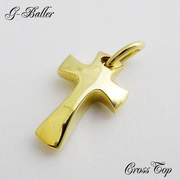 画像1: 人気 アンクレット ブランド G-BALLER クロス トップ メンズ 18Kゴールド
