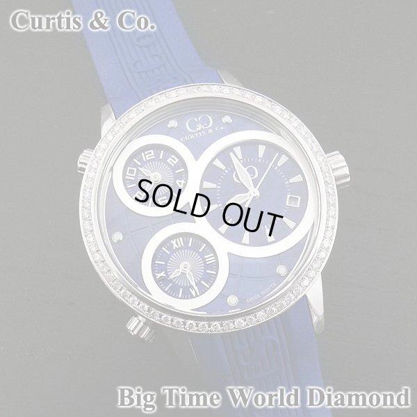 画像3: カーティス ビックタイムワールド ダイヤモンド 3タイムゾーン ブルー