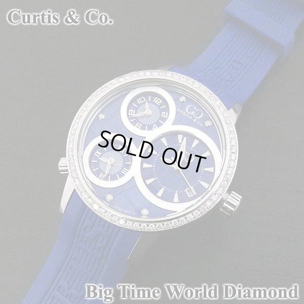 画像2: カーティス ビックタイムワールド ダイヤモンド 3タイムゾーン ブルー