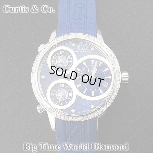 画像1: カーティス ビックタイムワールド ダイヤモンド 3タイムゾーン ブルー