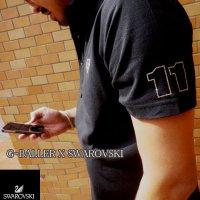 スワロフスキーオーダーメイド 製作 ナンバー11 オーダーポロシャツ