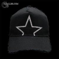 STAR ダメージコットン スワロCAP BLACK