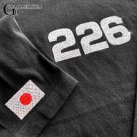 デコオーダー ロングスリーブシャツ ナンバー & 日本国旗