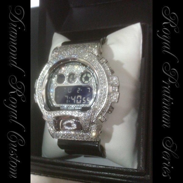 画像2: G-SHOCKカスタム ダイアモンドWG FULLカスタム 5年保証付き Royal Platinum watch