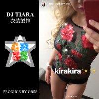 DJ TIARA ステージ 衣装制作 スワロフスキー