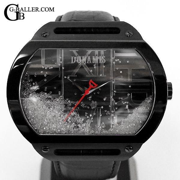 デュナミス時計 ブラックIP リキッドダイヤモンド