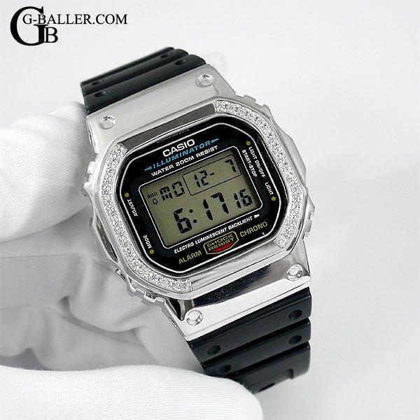G-SHOCKカスタム DW5600 シルバー プレーンベゼル
