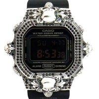 Casio G-Shock Custom by G-BALLER | DW5600MS Cross&Skull Black Diamond