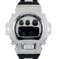 Casio G-Shock Custom by G-BALLER | DW6900 Rhodium Coating Center Bracelet Diamond