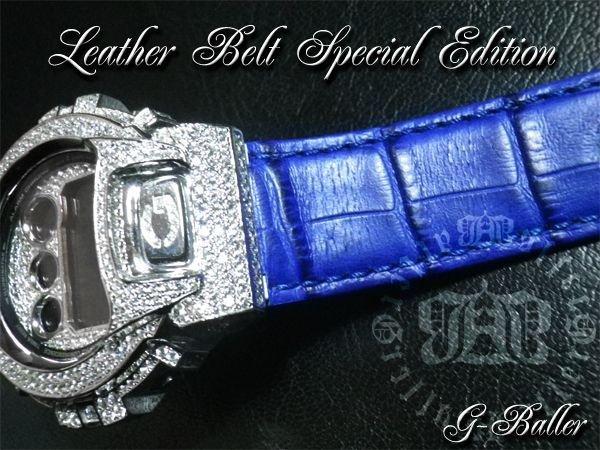 画像3: G-SHOCK カスタム DW6900 レザーベルト スペシャル エディション ブルーのクロコレザーベルトでカスタムした上級フルコンプリートモデル