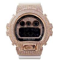Casio G-Shock Custom by G-BALLER | DW6900 Pink Gold Coating Diamond