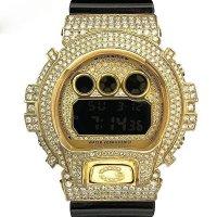 Casio G-Shock Custom by G-BALLER | DW6900 Yellow Gold Coating Diamond